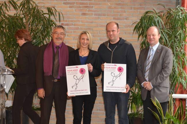 Remise du Prix Fondation SNCF 2014 à Ensemble pour Aurélien et Jason